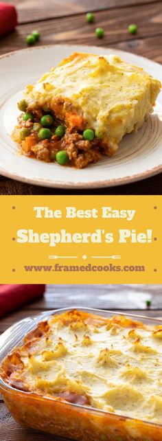 easy recipe for shepherd's pie just might be the best comfort food EVER.This easy recipe for shepherd's pie just might be the best comfort food EVER. Easy Pie Recipes, Supper Recipes, Cooking Recipes, Easy Recipes For Dinner, Quick And Easy Recipes, Free Recipes, Vegetarian Recipes, Supper Meals, Healthy Recipes