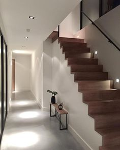 All Details You Need to Know About Home Decoration - Modern Interior Stairs, Home Interior Design, Interior Architecture, Modern Staircase, Staircase Design, Stair Design, House Stairs, Bedroom Flooring, Home And Living