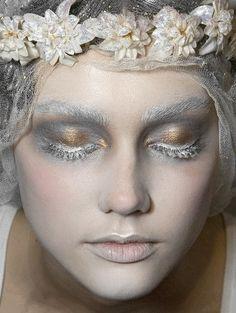 """Diaphanee blvck-voodooism: """" lamorbidezza: """" Make-up at John Galliano Fall 2009 """" """" Galliano is a god Fairy Makeup, Makeup Art, Eye Makeup, Makeup Ideas, Ghost Makeup, Exotic Makeup, Mermaid Makeup, Beauty Makeup, Hair Beauty"""