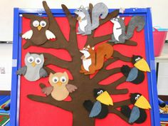 Storytime with Miss Tara and Friends:  Gorgeous felt board owls, crows and squirrels!!