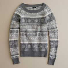 J.Crew Dream Fair Isle crewneck sweater