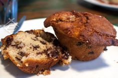 Green Refectory, choc chip muffin.