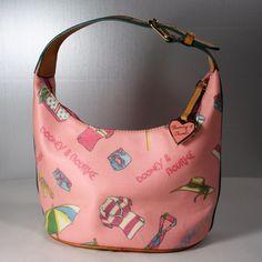 Dooney & Bourke Miami Bucket Bag Summer Vacation Beach Hobo Handbag Purse Pink #DooneyBourke #BucketBag