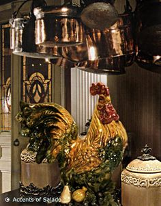 Tuscan Rooster Decor | Decorating with Mediterranean Style Statues and Figurines