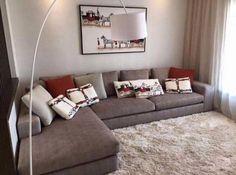 salon marocain moderne gris rouge en L de interieur sur mesure
