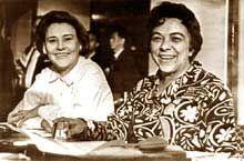 Melba Hernandez y Haydee Santamaría
