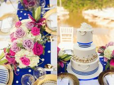 Nautical Chic Wedding Inspiration - Belle The Magazine Chic Wedding, Wedding Day, Wedding Blog, Shade Roses, Gold Lanterns, Nautical Wedding Theme, Sweet Lady, Gold Polka Dots, Event Dresses