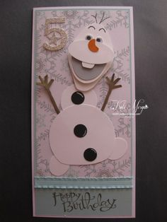 Frozen Olaf Punch Art Card
