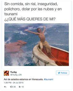 Captura de pantalla 2015-07-27 a la(s) 10.20.32 Tsunami, Funny, Painting, Get Well Soon, Clouds, Venezuela, Pictures, News, Painting Art