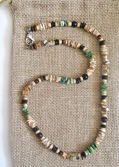 Native American Green Turquoise Garnet Harvest Necklace – Earth Ocean Fire Jewelry