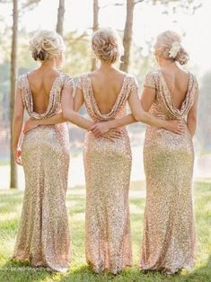 Backless Bridesmaid Dress, Champagne Bridesmaid Dresses, Gold Bridesmaids, Cheap Bridesmaid Dresses, Gold Sequence Bridesmaid Dresses, Gold Brides Maid Dresses, Bridal Party Dresses, Maid Of Honour Dresses, Prom Dresses With Sleeves