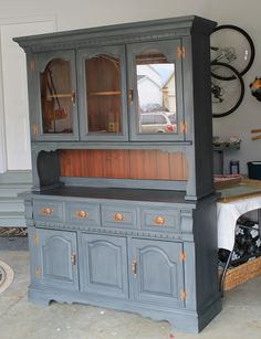 Lucky Star Lane: Painted Furniture: Another China Cabinet Complete...this looks just like my china cabinet but redone of course! Love this