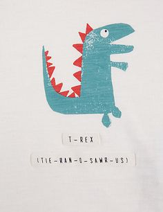 2 Piece Pure Cotton Dinosaur Print T-Shirt & Joggers Outfit Dinosaur Illustration, Monster Illustration, Hand Illustration, Dinosaur Art, Dinosaur Toys, Cute Dinosaur, Kids Room Art, Art For Kids, T Rex