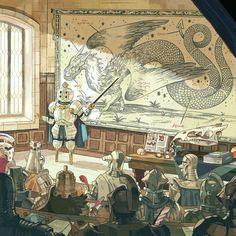 Knights / Dragon / Illustration