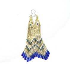 Agasga  Long ethnic style bugle bead earrings  by Taurieldesign, $22.00