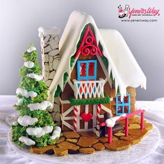 Gingerbread House - Cake by Yeners Way - Cake Art Tutorials