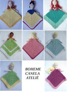 Boheme Canela Ateliê: Mantas de Apego Princesas em Crochê