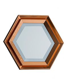 The Faulkner Copper Hexagon Mirror features deep ridges finished in a warming copper tone. Part of our modern memphis collection, showcasing colour block designs with geometric details. Color Blocking, Foundation, Copper, Rain, Mirror, Modern, Design, Rain Fall, Trendy Tree