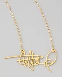 Custom signature necklace - this is SO COOL!!!  This would be a fab Christmas gift