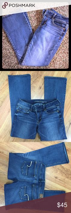 AE Bootcut Jeans Bootcut with a little flare. Cute medium wash. Like new condition. American Eagle Outfitters Jeans Boot Cut