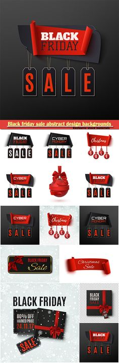 Download Black friday sale abstract design backgrounds Christmas sale banner with christmas tree decorations Free