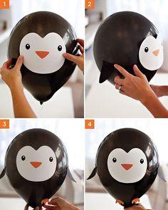 Gente, e esse balão de pinguim?? Coisa querida! Fofo demais para uma festinha com esse tema! Já imaginaram!? ❤️ #festinhapinguim #temapinguim #fofura #festasinfantis #balãodebichinho #balão #pinterest #decoreetc