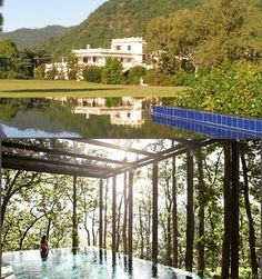 5 Exotic Spa Resorts In India For A Unique Honeymoon Rishikesh, Best Resorts, Resort Spa, Places To Travel, Exotic, India, Vacation, Mansions, House Styles