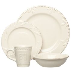 Signature Housewares Sorrento Collection Stoneware Dinnerware Set, Ivory Antiqued Finish for Like the Signature Housewares Sorrento Collection Stoneware Dinnerware Set, Ivory Antiqued Finish? Sorrento, Stoneware Dinnerware Sets, Tableware, Kitchenware, Kitchen Dining, Kitchen Decor, Rustic Kitchen, Dining Room, Dining Plates