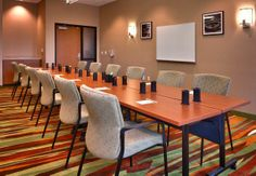 Our meeting space here at SpringHill Suites by Marriott, Coeur d'Alene has all the HDMI hookups to make your presentation a fantastic one. We can can seat up to 25 people in a theater setting, or 12 people in a classroom or conference style setting. Beverage and food services also available in the meeting space. Come see our hotel!