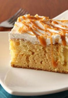 Dulce de Leche Tres Leches Cake — Tres Leches Cake means the cake of three milks. This one has the extra added bonus of deep caramel flavor from the dulce de leche.