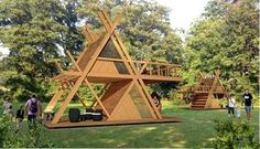 glamping mod perfect for nature camping resort model max obj skp 3 Camping Resort, A Frame House Plans, A Frame Cabin, Bamboo House Design, Tiny House Design, Triangle House, Tiny House Cabin, Little Houses, Play Houses