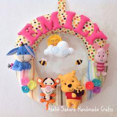 Guirlanda Porta de Maternidade tema Pooh e seus amigos