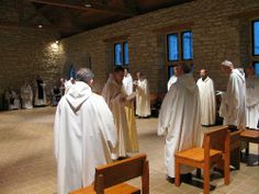 Trappist Monks New Melleray Abbey | Br. Michael John makes his profession of vows