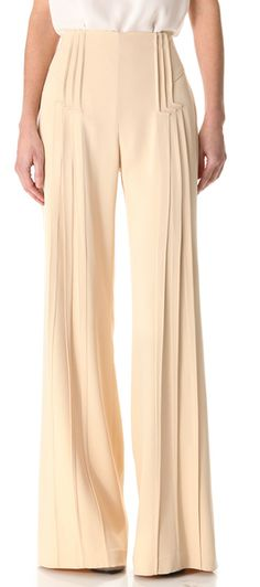 Pintuck Wide Leg Pants