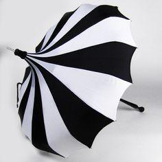 Striped umbrella. #black #white