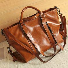 Retro-brown Leather Tote/ Shopping Bag/ iPad Bag/ Shoulder Bag/ Woman Bag/ Handmade Bag on Etsy, $102.74 AUD