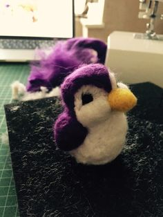 Little birdie I felted myself not to bad for a beginner