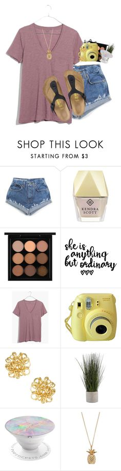 """Go follow this new prepster"" by livnewell ❤ liked on Polyvore featuring Kendra Scott, MAC Cosmetics, Madewell, Fujifilm and Birkenstock"