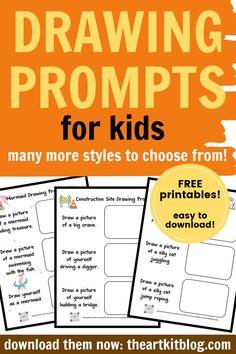 Printable Templates, Free Printables, Mermaid Drawings, Drawing Prompt, Educational Activities For Kids, Books For Teens, Free Fun, Prompts, Homeschooling