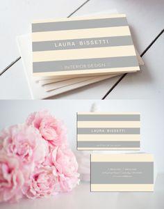 Grey Stripes Business Card