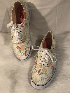 cd640fde349b07 RARE VANS Disney Authentic Ariel Little Mermaid Shoes Women s SZ 10 Men s  8.5  VANS