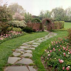 Stone walkway at Ladew Gardens