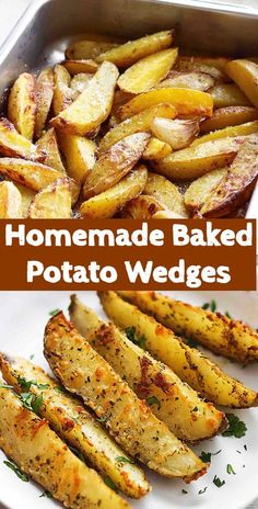 Homemade Baked Potato Wedges - Rezepte Vegetarier - Homemade Baked Potato Wedges Best Picture For soup recipes easy For Your Taste You are looking fo - Russet Potato Recipes, Healthy Potato Recipes, Scalloped Potato Recipes, Potato Side Dishes, Recipes With Potatoes, Golden Potato Recipes, Small Potatoes Recipe, Easy Side Dishes, Side Dishes For Ribs