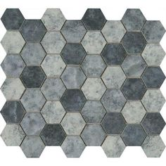 MS International Urban Tapestry Hexagon 12 in. x 12 in. x 6 mm Glass Mesh-Mounted Mosaic Tile (15 sq. ft. / case)-SMOT-GLS-UT6MM - The Home Depot