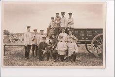Vintage Postcard WWI German Officers Uniform Field Artillery Wagon RPPC | eBay