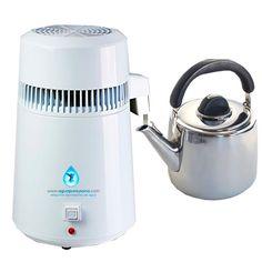 Destiladora de agua acero pequeña, para purificar el agua que bebemos. Consulte el kit completo que se entrega conjuntamente con la destiladora de agua.