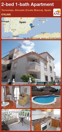 2-bed 1-bath Apartment in Torrevieja, Alicante (Costa Blanca), Spain ►€76,000 #PropertyForSaleInSpain