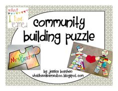 Build community during the beginning of the school year (or anytime) with a fun puzzle made by the students!  Students color their puzzle pieces and then assemble the puzzle collaboratively.  To make it easier, I write boy and girl on the back of each piece and separate students into the two groups. | Classroom Community | Teaching Cooperation | Teaching Diversity | Anti-Bullying Curriculum