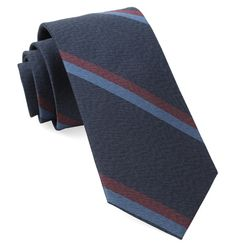Slb Stripe Ties - Navy | Ties, Bow Ties, and Pocket Squares | The Tie Bar