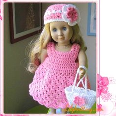 PATTERN – Crocheted Cute Doll Dress — Doll Dress